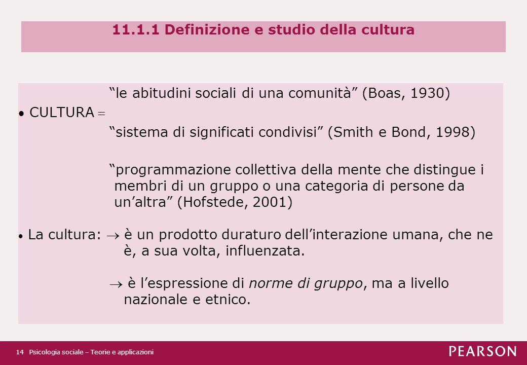11.1.1 Definizione e studio della cultura
