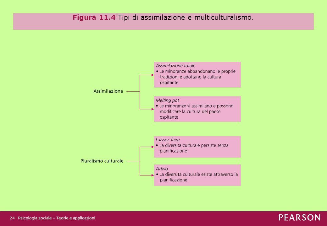 Figura 11.4 Tipi di assimilazione e multiculturalismo.