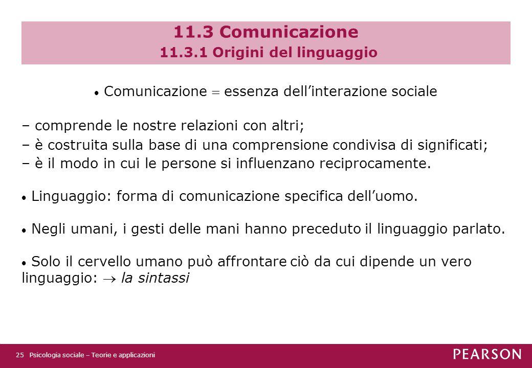11.3 Comunicazione 11.3.1 Origini del linguaggio