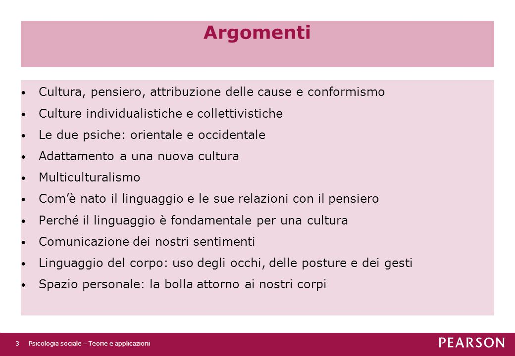 Argomenti Cultura, pensiero, attribuzione delle cause e conformismo
