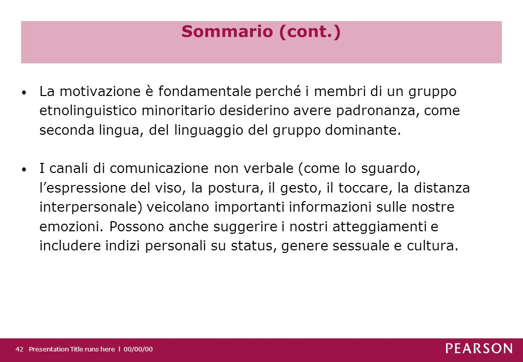 Sommario (cont.)