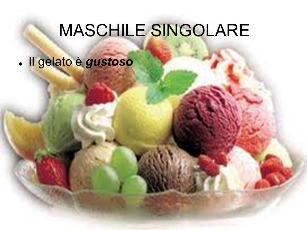 MASCHILE SINGOLARE Il gelato è gustoso