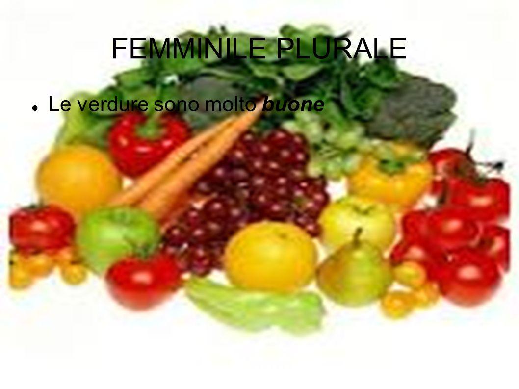 FEMMINILE PLURALE Le verdure sono molto buone