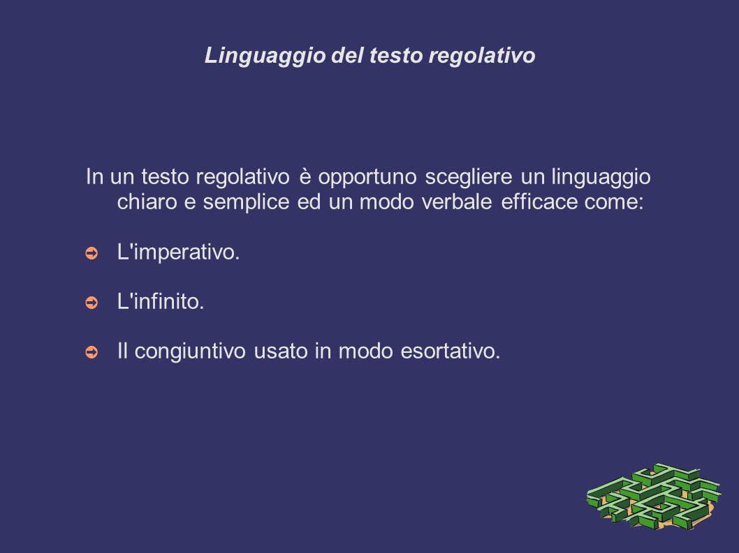 Linguaggio del testo regolativo