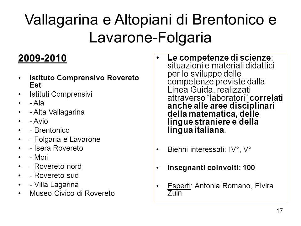 Vallagarina e Altopiani di Brentonico e Lavarone-Folgaria