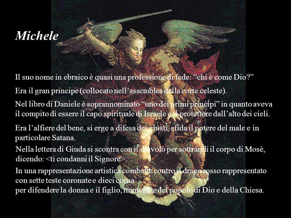 Michele Il suo nome in ebraico è quasi una professione di fede: chi è come Dio