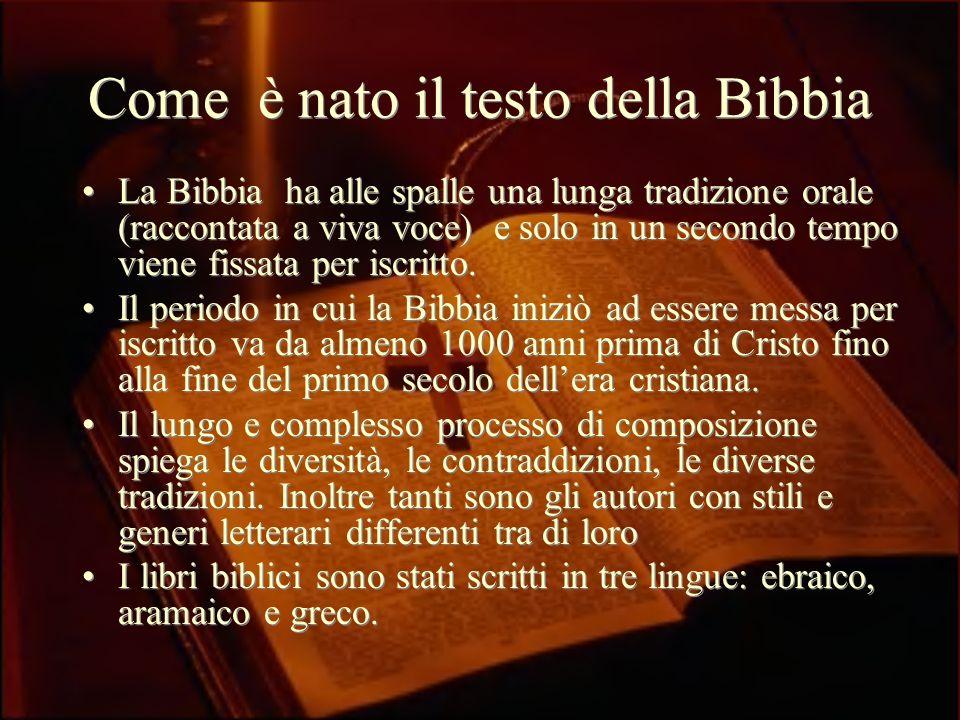 Come è nato il testo della Bibbia