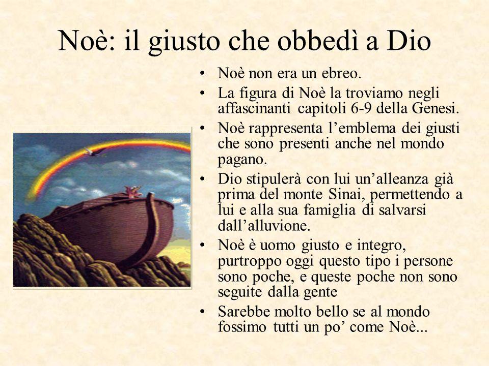 Noè: il giusto che obbedì a Dio