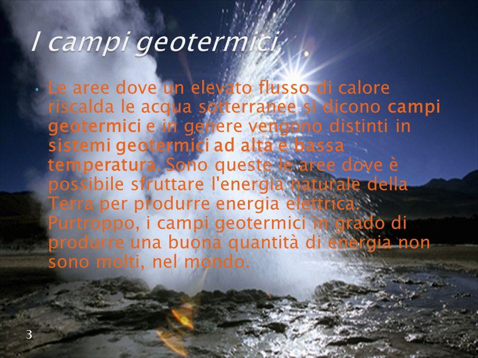 I campi geotermici