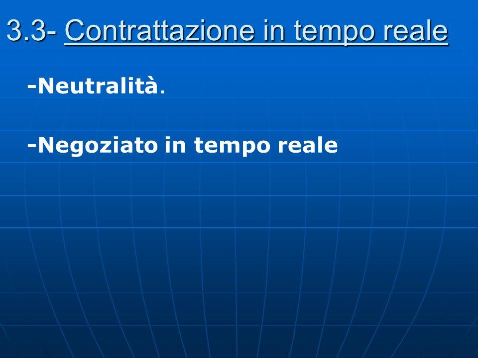 3.3- Contrattazione in tempo reale