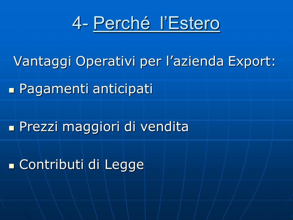 4- Perché l'Estero Vantaggi Operativi per l'azienda Export: