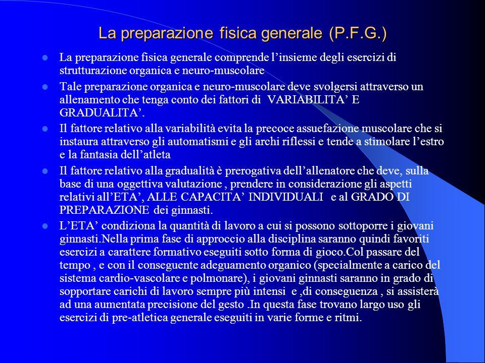 La preparazione fisica generale (P.F.G.)