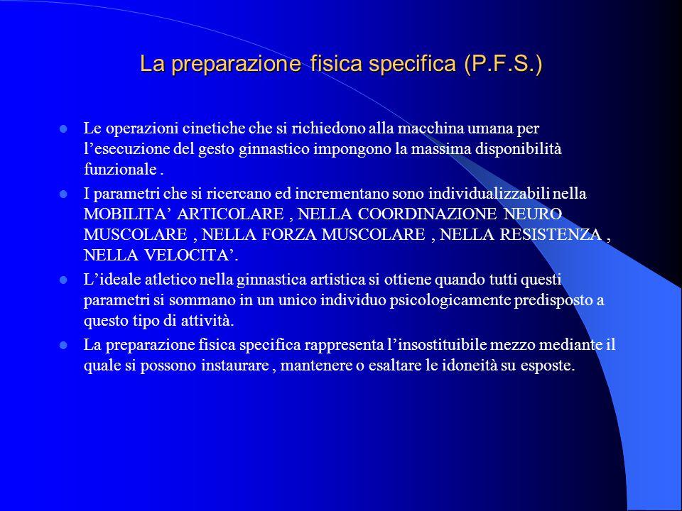 La preparazione fisica specifica (P.F.S.)