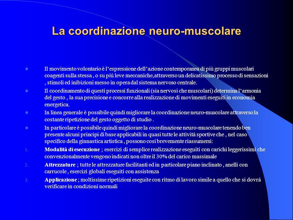 La coordinazione neuro-muscolare