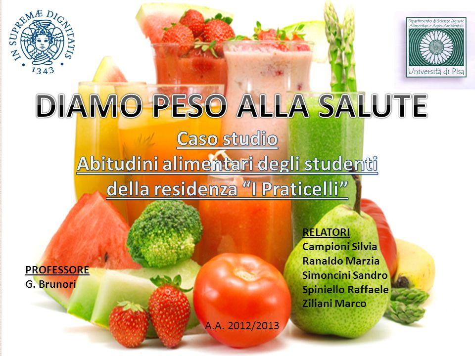 Abitudini alimentari degli studenti della residenza I Praticelli