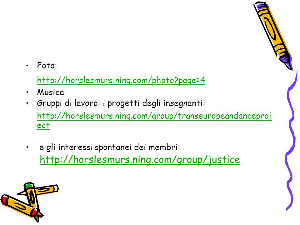 Foto: http://horslesmurs.ning.com/photo page=4. Musica. Gruppi di lavoro: i progetti degli insegnanti: