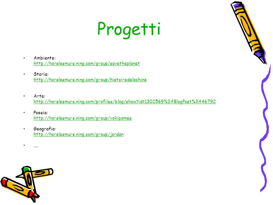 Progetti Ambiente: http://horslesmurs.ning.com/group/savetheplanet