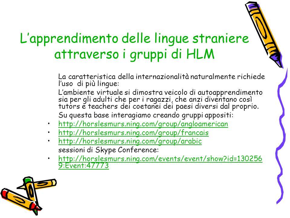 L'apprendimento delle lingue straniere attraverso i gruppi di HLM