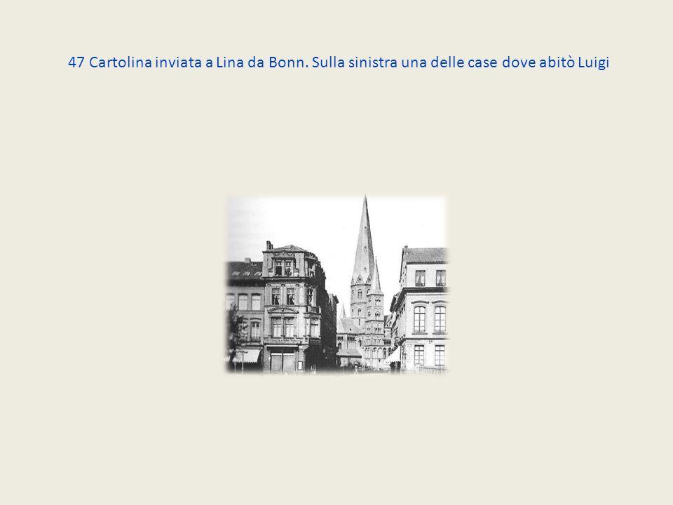47 Cartolina inviata a Lina da Bonn