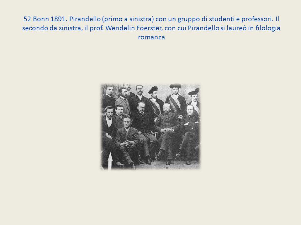 52 Bonn 1891. Pirandello (primo a sinistra) con un gruppo di studenti e professori.