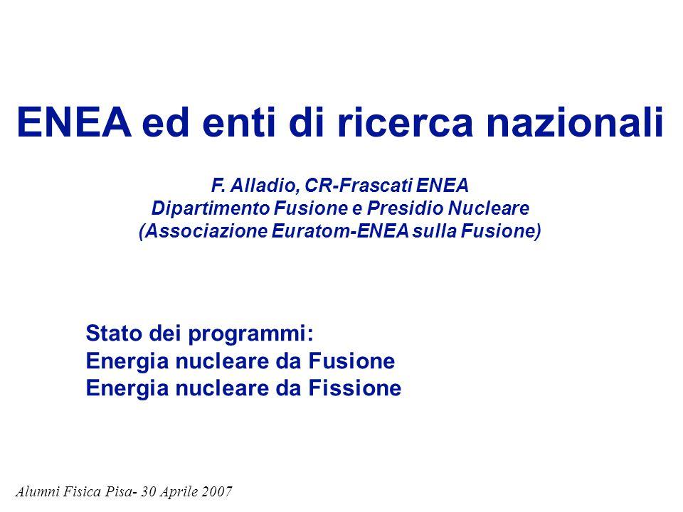 ENEA ed enti di ricerca nazionali