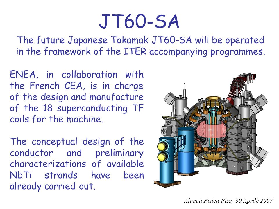 JT60-SA The future Japanese Tokamak JT60-SA will be operated in the framework of the ITER accompanying programmes.