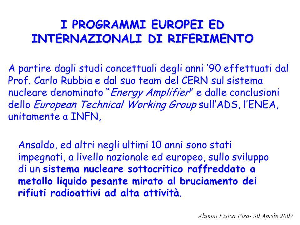 I PROGRAMMI EUROPEI ED INTERNAZIONALI DI RIFERIMENTO