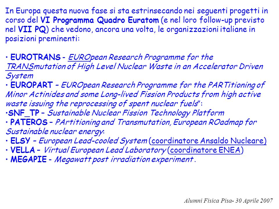 SNF_TP – Sustainable Nuclear Fission Technology Platform
