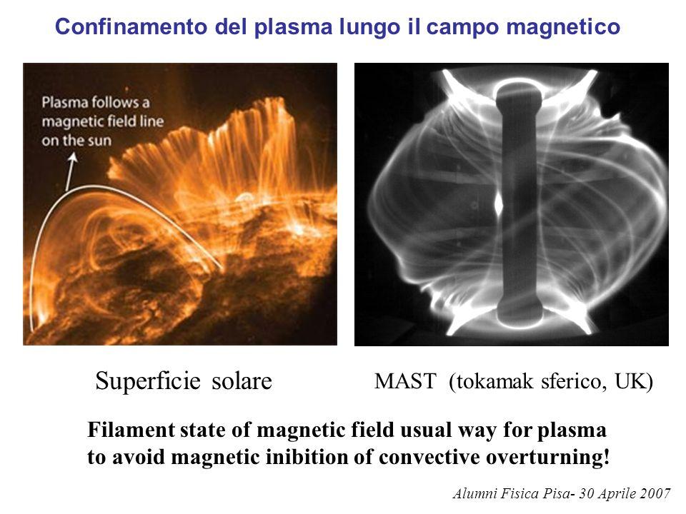 Confinamento del plasma lungo il campo magnetico
