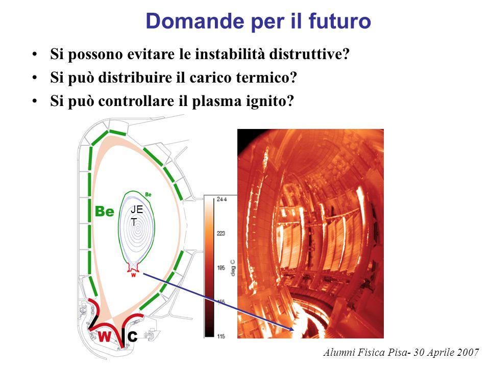 Domande per il futuro Si possono evitare le instabilità distruttive