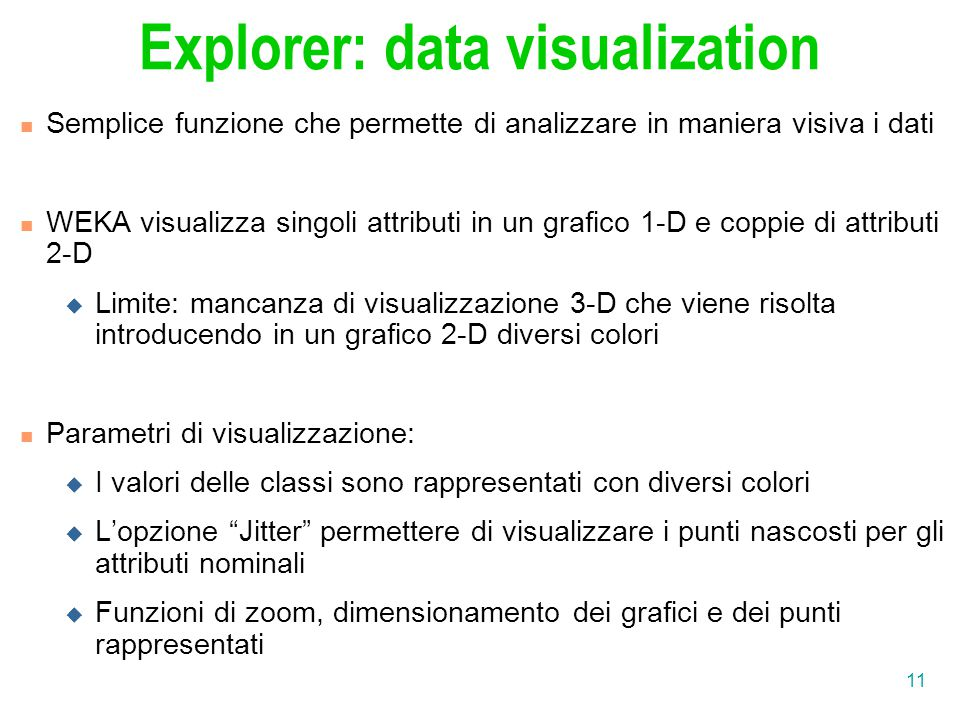 Explorer: data visualization