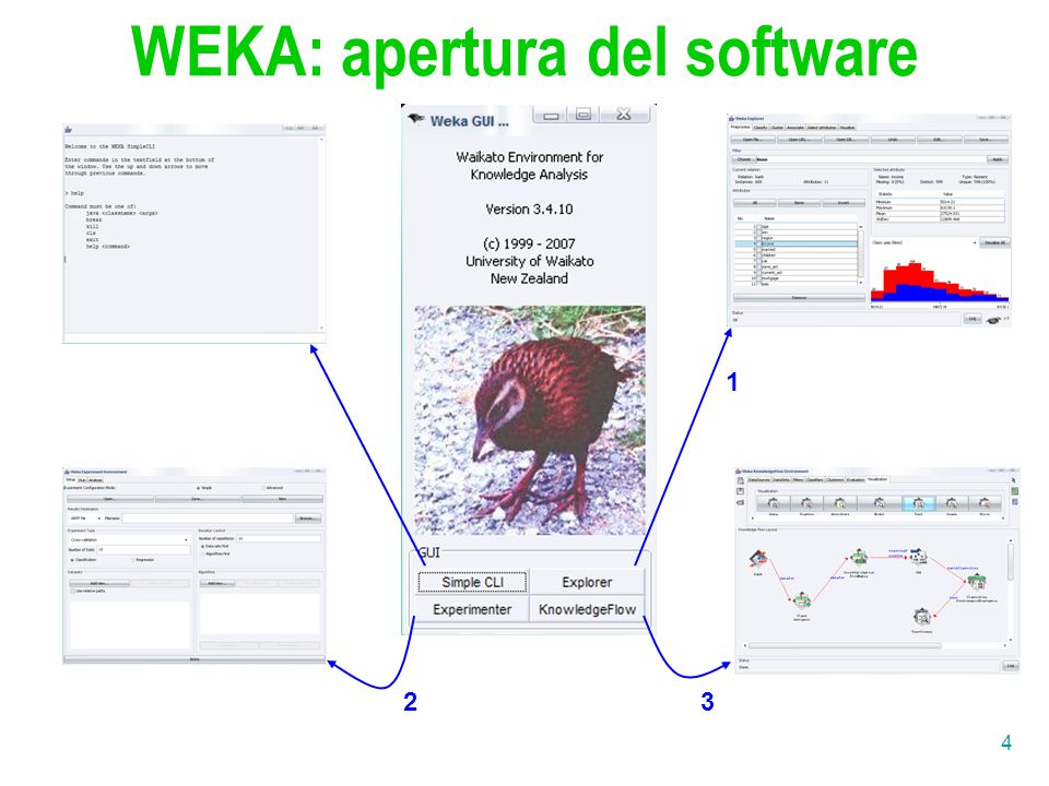 WEKA: apertura del software