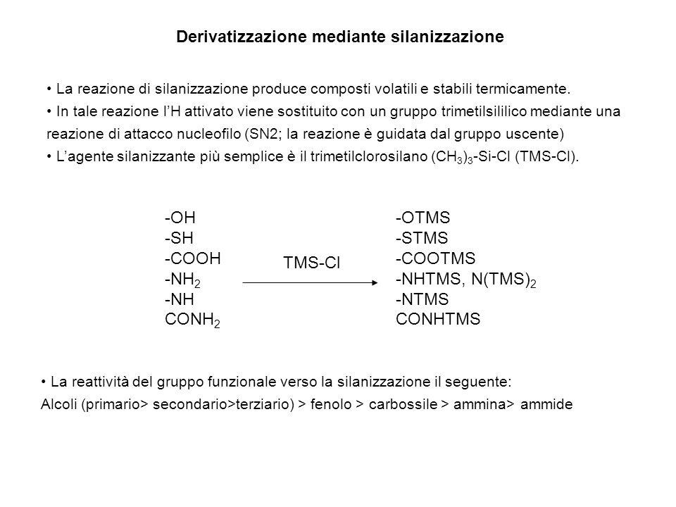 Derivatizzazione mediante silanizzazione