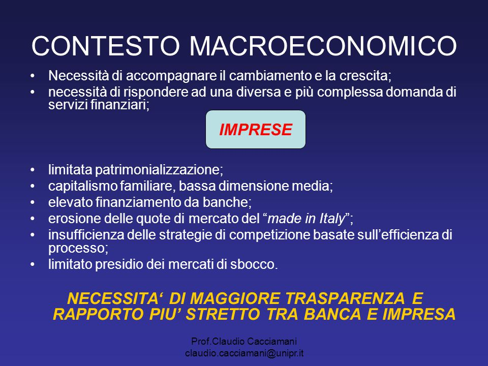CONTESTO MACROECONOMICO