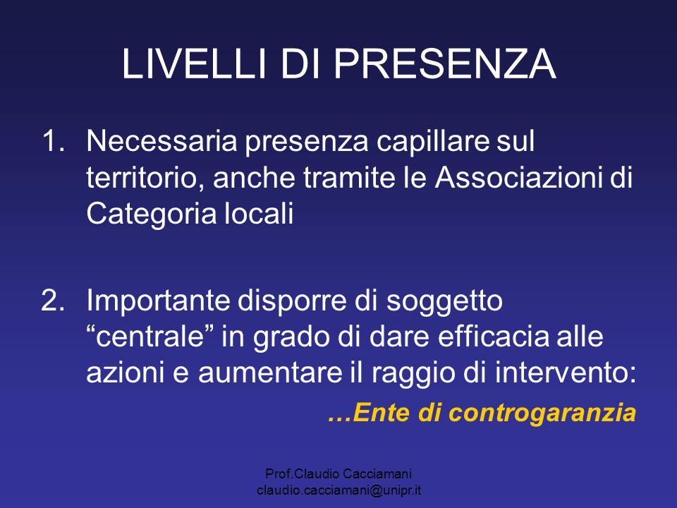 Prof.Claudio Cacciamani claudio.cacciamani@unipr.it