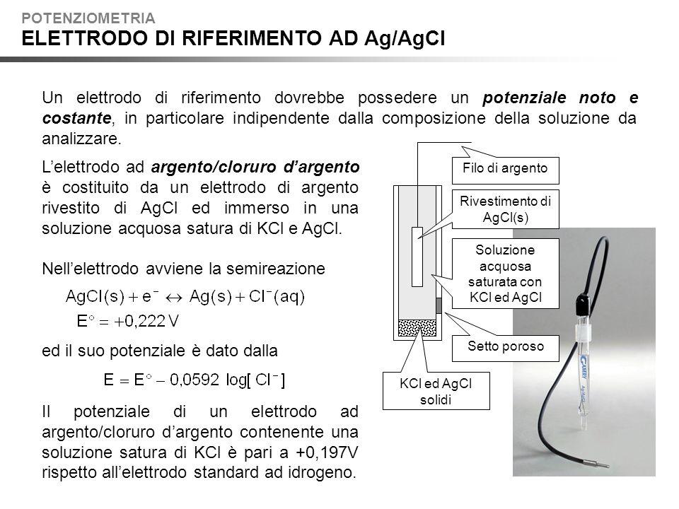 ELETTRODO DI RIFERIMENTO AD Ag/AgCl