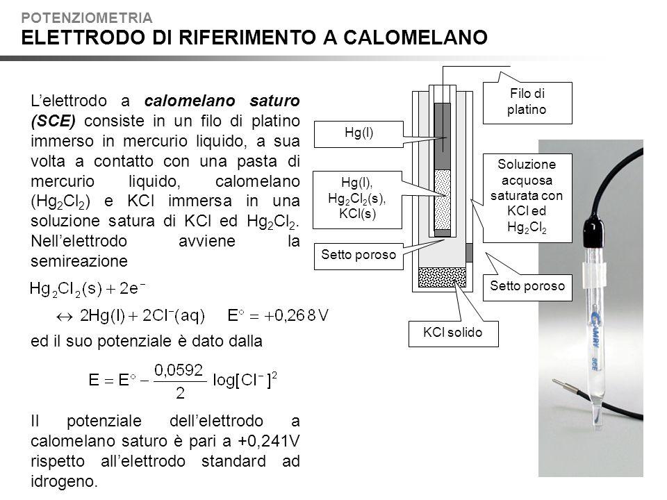 Soluzione acquosa saturata con KCl ed Hg2Cl2