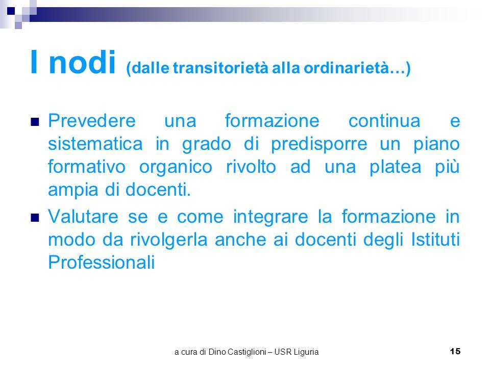 I nodi (dalle transitorietà alla ordinarietà…)