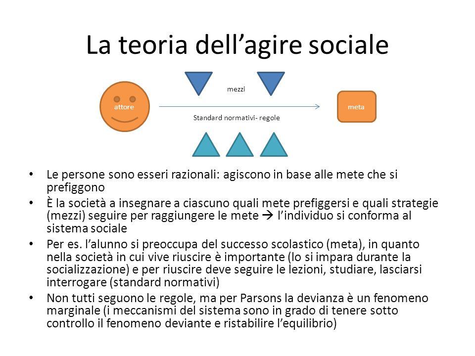 La teoria dell'agire sociale