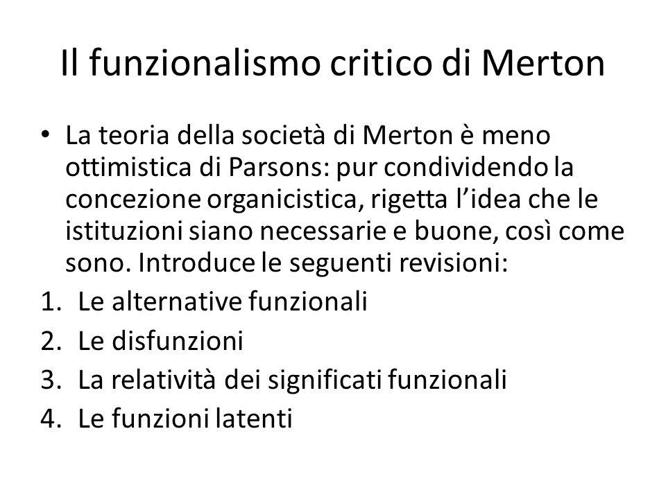 Il funzionalismo critico di Merton