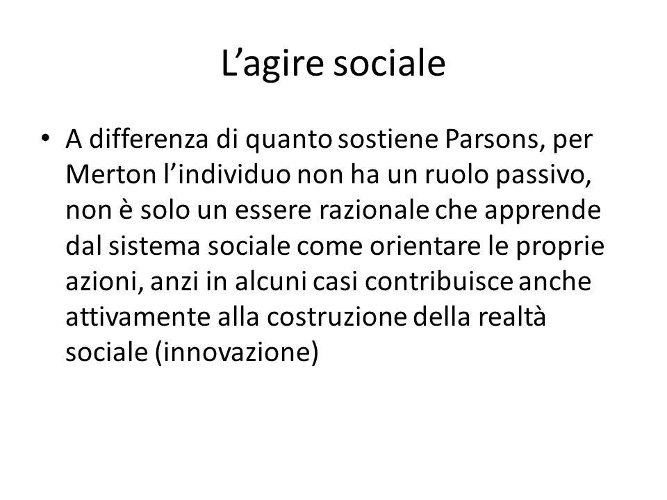 L'agire sociale