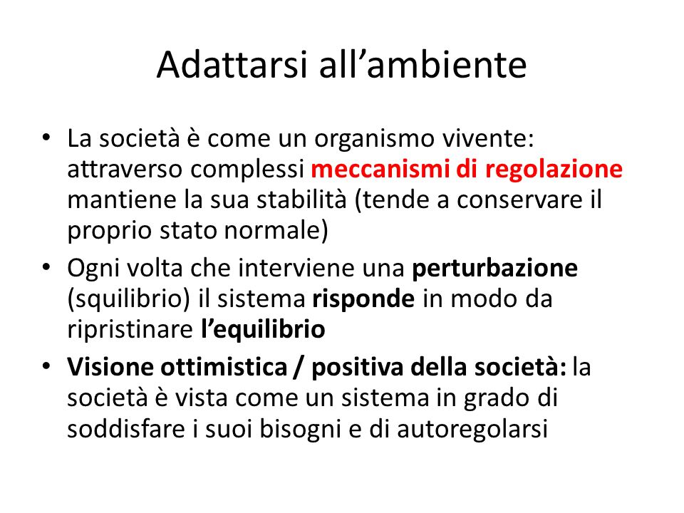 Adattarsi all'ambiente