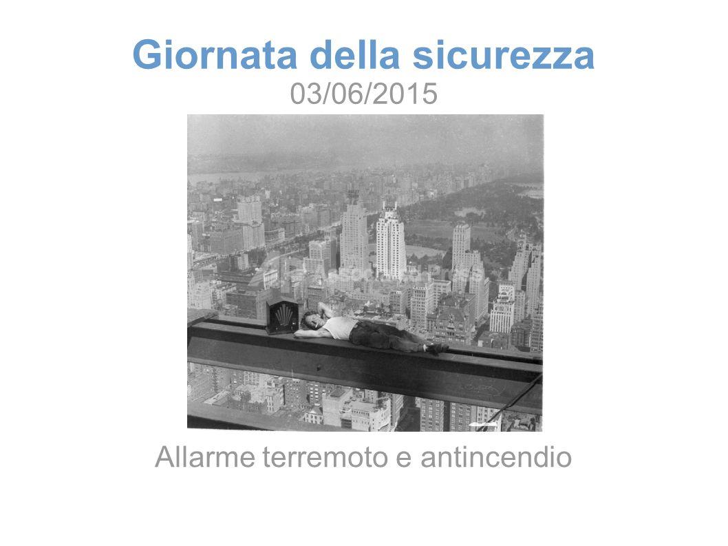 Giornata della sicurezza 03/06/2015