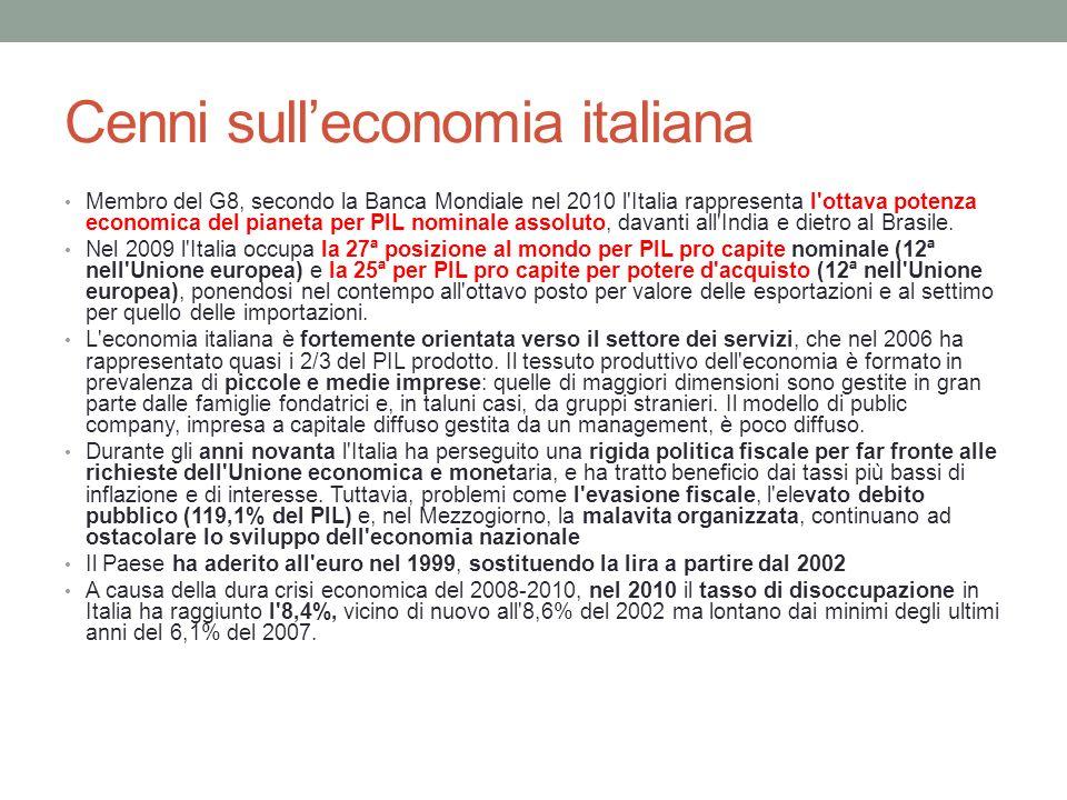 Cenni sull'economia italiana