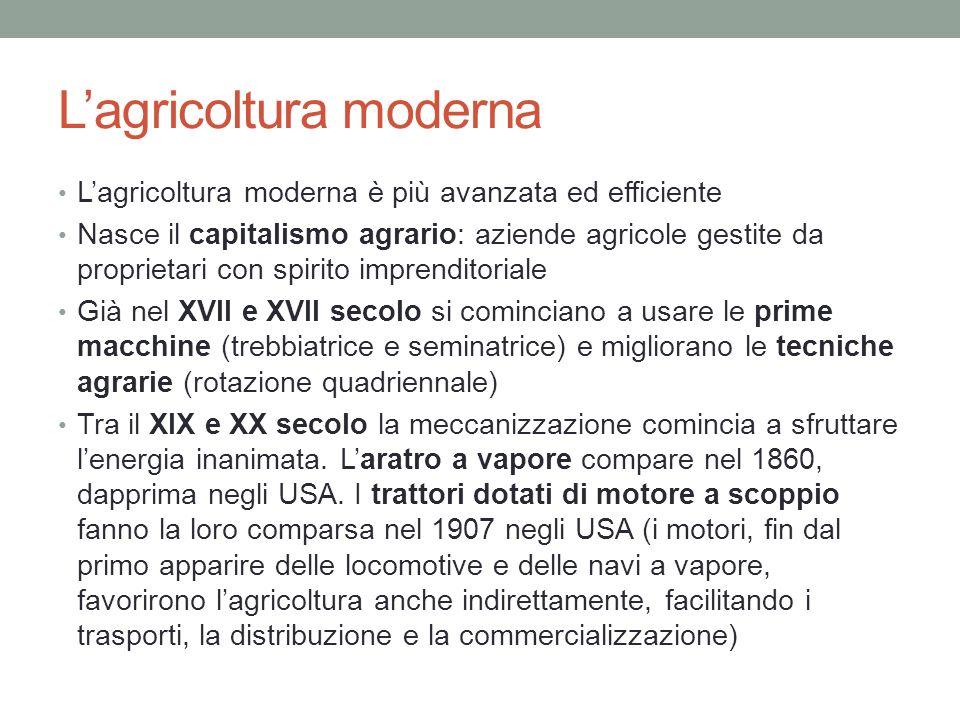 L'agricoltura moderna