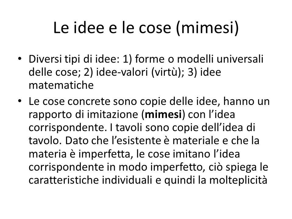 Le idee e le cose (mimesi)