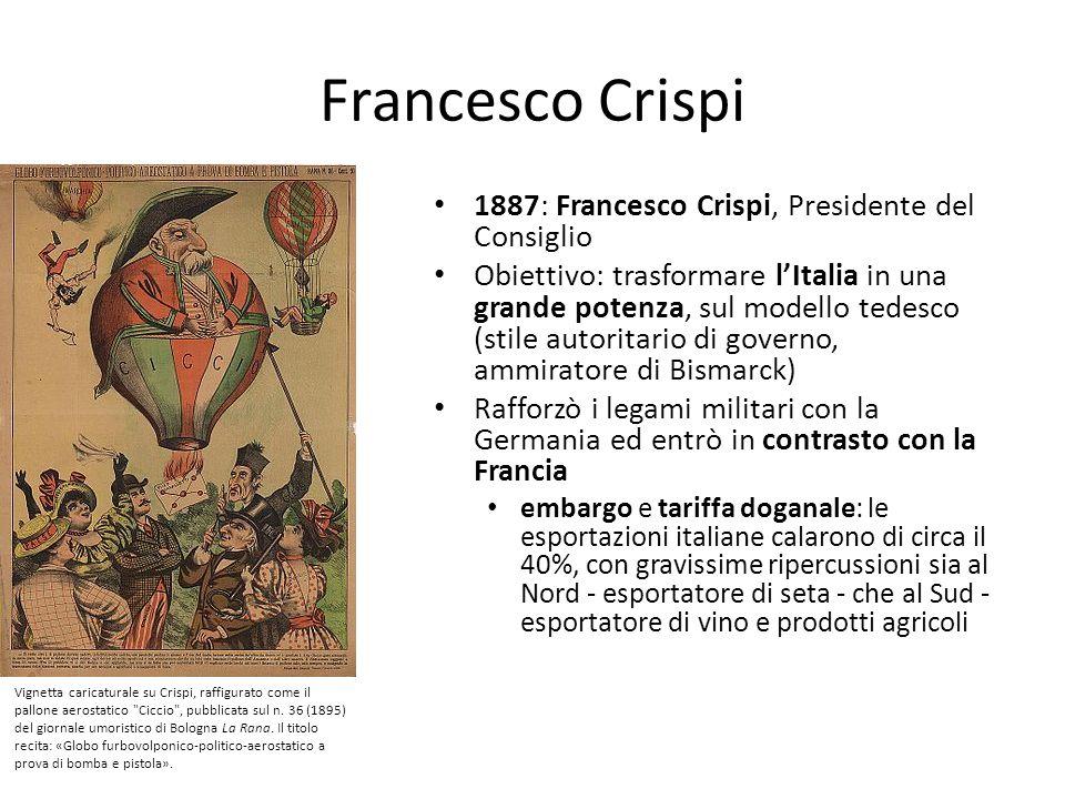 Francesco Crispi 1887: Francesco Crispi, Presidente del Consiglio