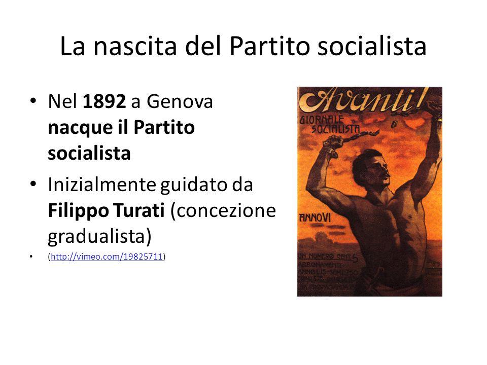 La nascita del Partito socialista