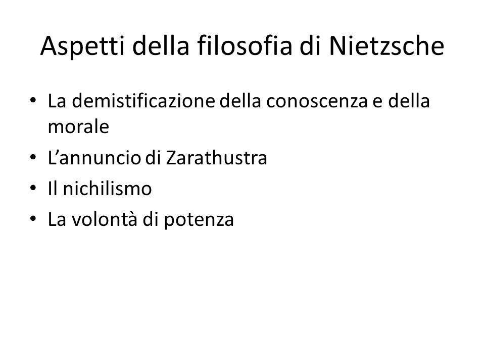 Aspetti della filosofia di Nietzsche