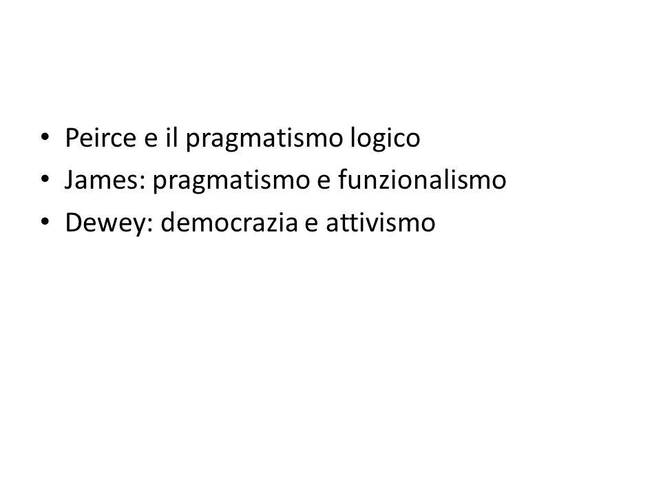 Peirce e il pragmatismo logico